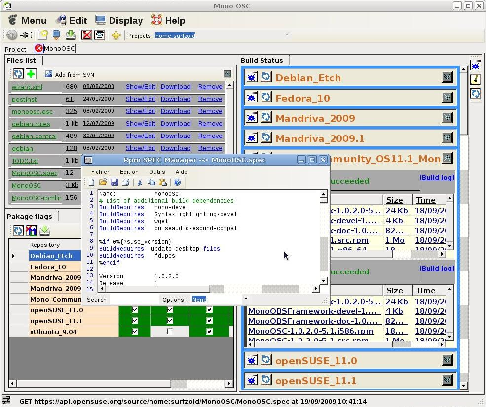 Graphical user interface (GUI) and Framework
